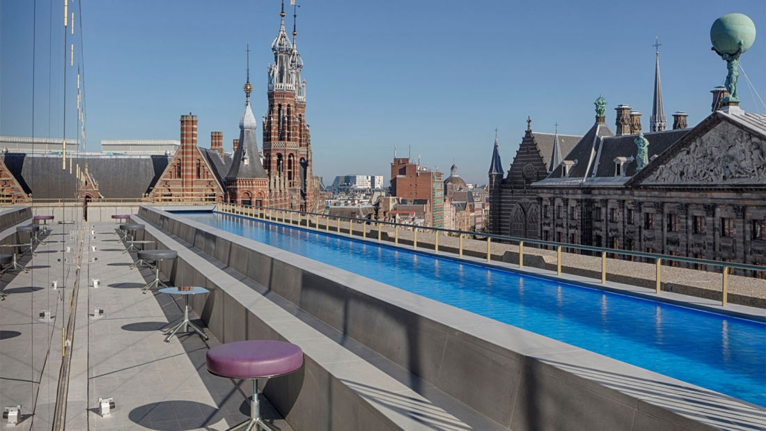 W Amsterdam Roof Top Pool
