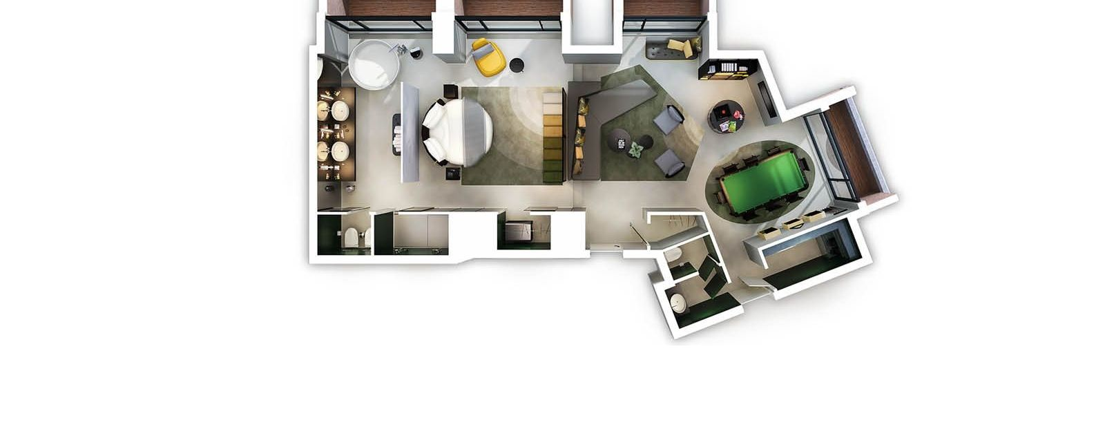 Extreme Wow Suite Exchange Floor Plan - W Amsterdam